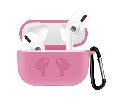 Силиконовый чехол IQEA для наушников Apple AirPods Pro Цвет Розовый Bluetooth Silicone Case