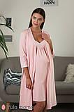 Нежный комплект халат + ночная сорочка для беременных и кормящих мам, фото 9