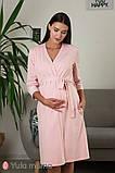 Нежный комплект халат + ночная сорочка для беременных и кормящих мам, фото 3