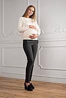 Демисезонные серые брюки для беременных 42-48 р