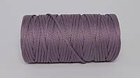 Полиэфирный шнур  4-5мм оттенок Пастельно-фиолетовый