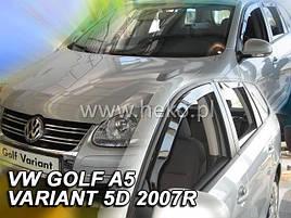 Дефлектори вікон (вітровики) VW Golf-5/6/Jetta Combi 2005-2011 4шт (Heko)