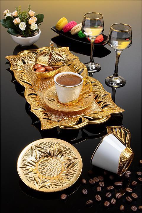 Набор чашек для кофе Золотистый лепесток Sena на 2 персоны
