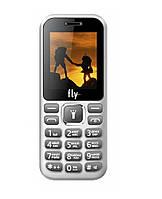 Кнопочный телефон недорогой с камерой на 2 сим карты Fly FF190 White