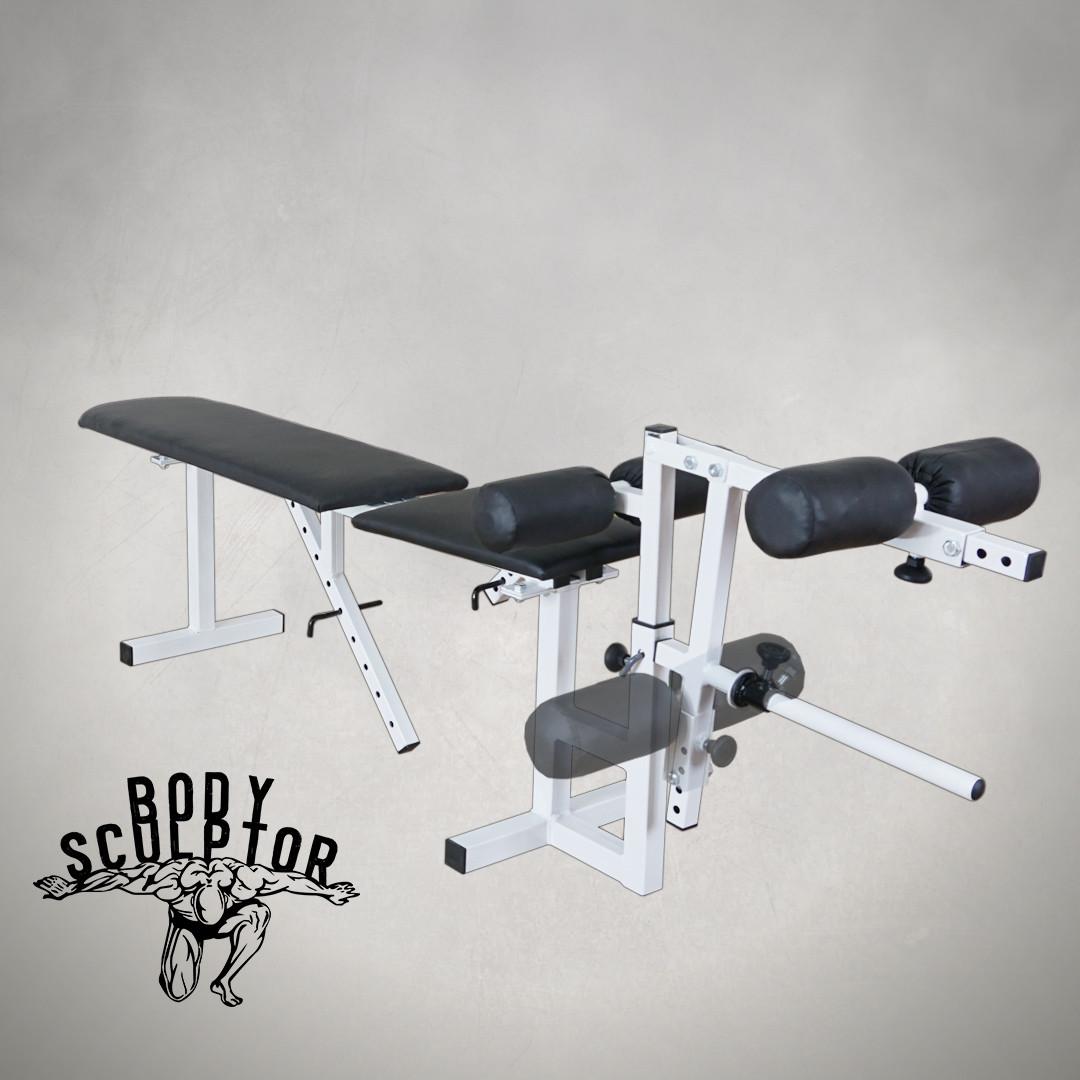 Лавка для жима регульована до 200 кг Лавка та тренажер для ніг
