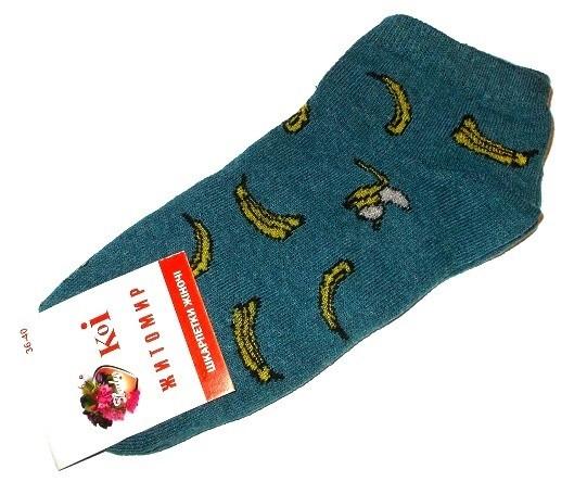 Носки короткие фрукты размер 36-40 зеленые
