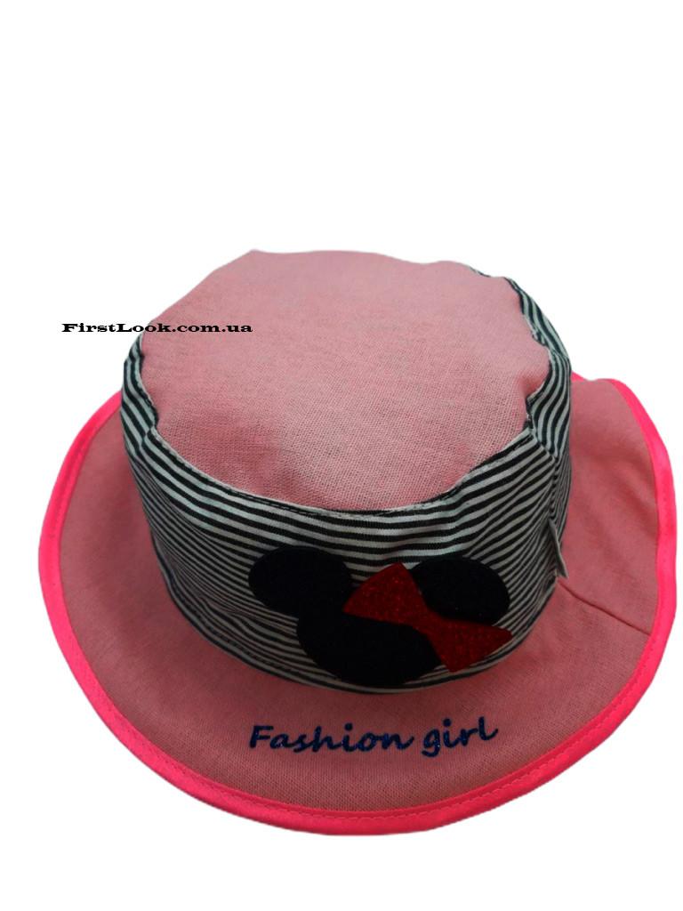 Детская панама-шляпка на девочку (1-4 года)