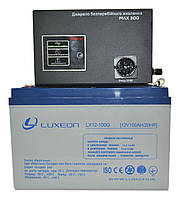 Комплект резервного питания ИБП Вольт MAX-300 + АКБ LX12-100G 100Ah для 7-12ч работы газового котла, фото 1