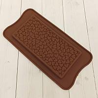 Силиконовая форма плитка шоколада Сердце, фото 1