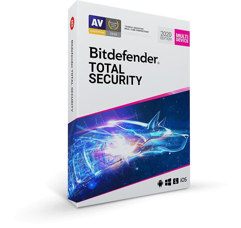 Антивірус BitDefender Total Security 2021 10 ПК 1 рік (електронна ліцензія)