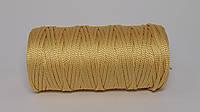 Полиэфирный шнур 4-5мм оттенок Желтое золото