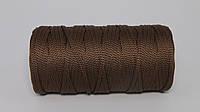 Полиэфирный шнур  4-5мм оттенок Коричневый
