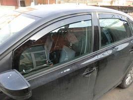 Дефлектори вікон (вітровики) VW Passat B7 Sedan 4D (вставні)