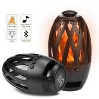 Блютуз колонка SUNROZ Flame Atmosphere  BTS-596 LED Bluetooth беспроводная портативная  Камин Black