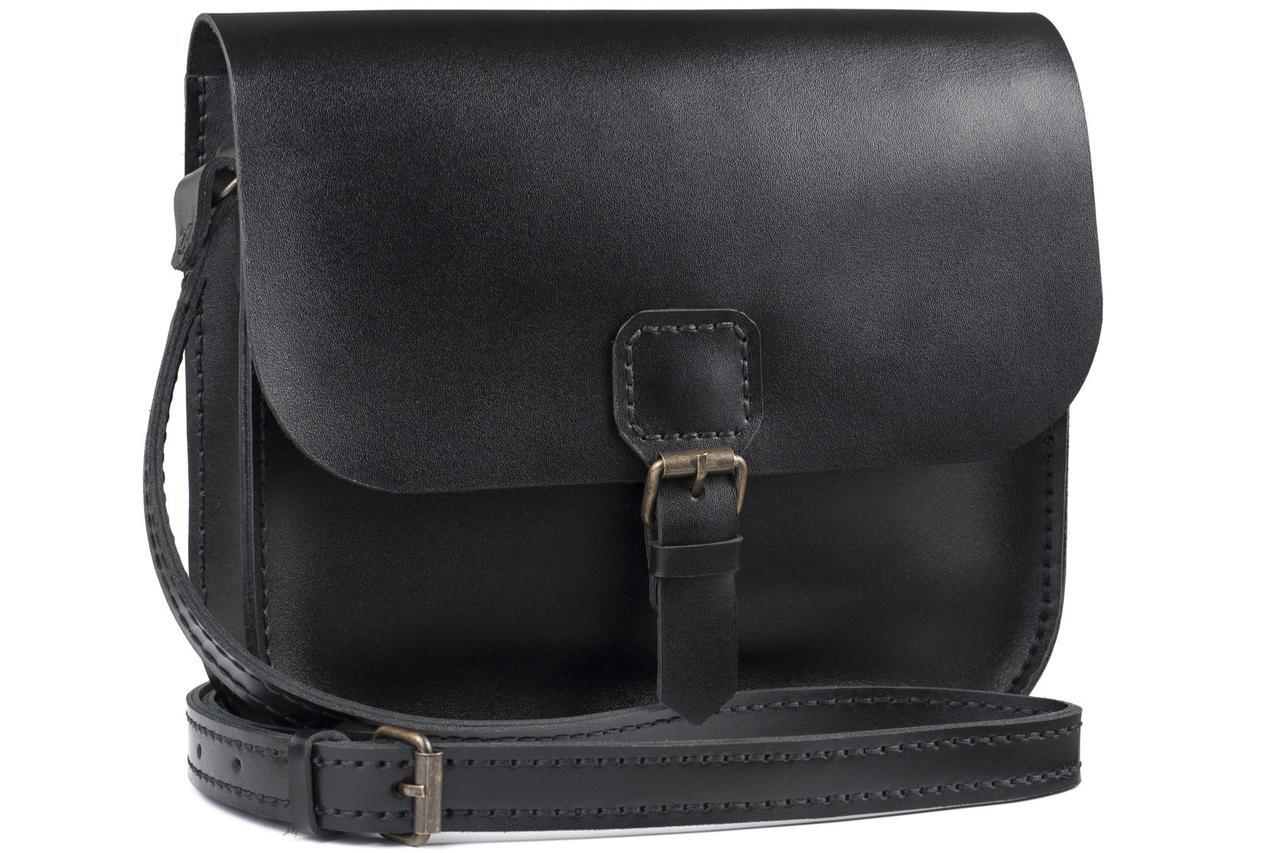 Женская кожаная сумка Handy черная