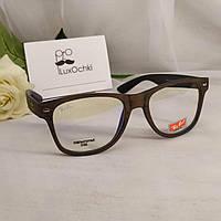 Стильные имиджевые+компьютерные очки Ray Ban Wayfarer оправа под дерево