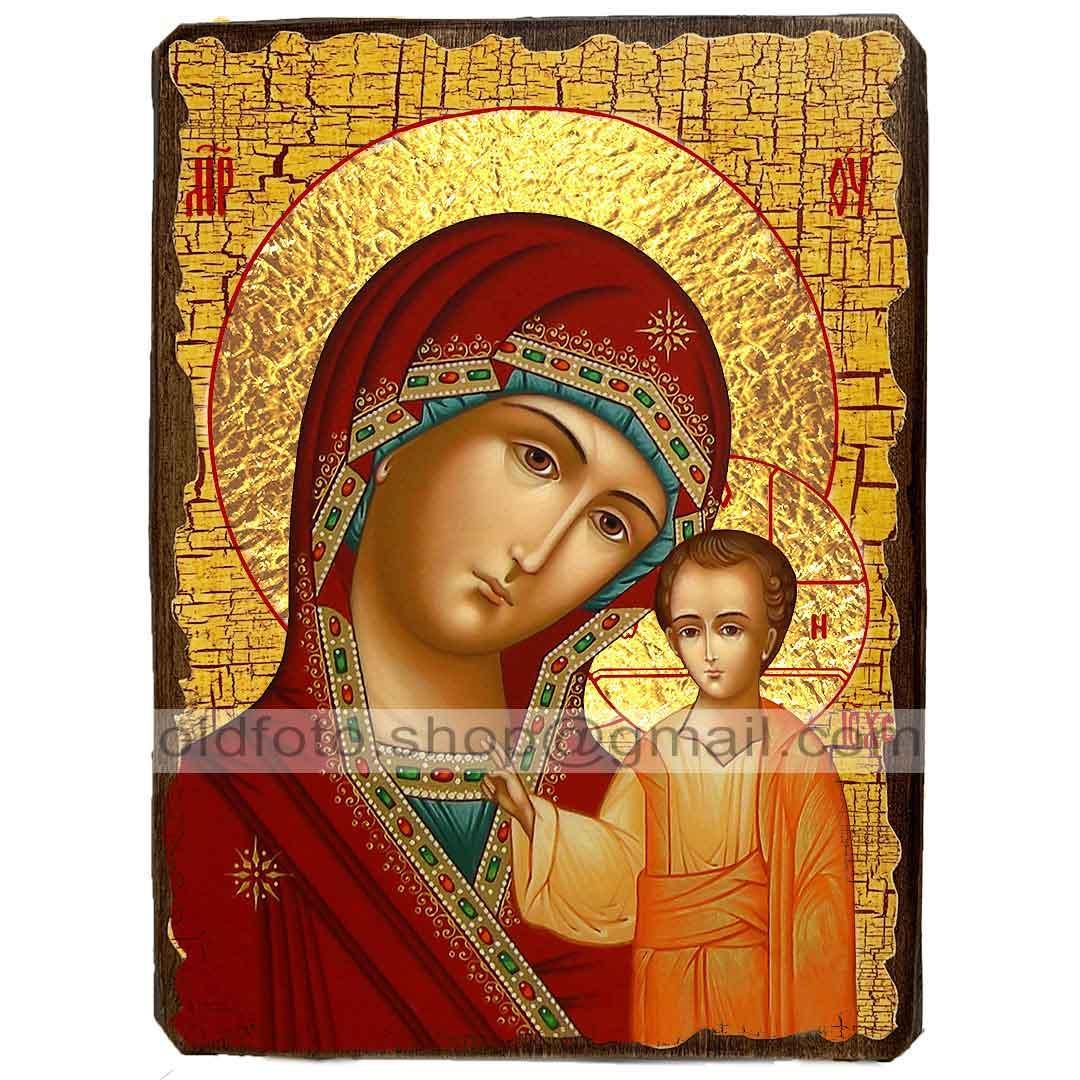 Казанская Икона Пресвятой Богородицы ,икона на дереве 130х170 мм