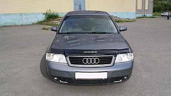 Дефлектор капота (мухобойка) Audi A6 (4В, С5) 1997-2004
