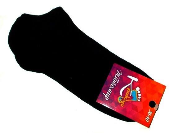 Носки женские короткие черные хлопок размер 36-40