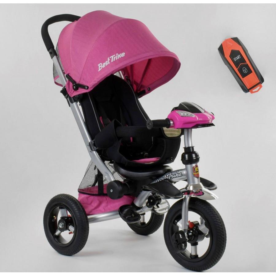 Велосипед триколісний Best Trike 698 фара з USB рожевий