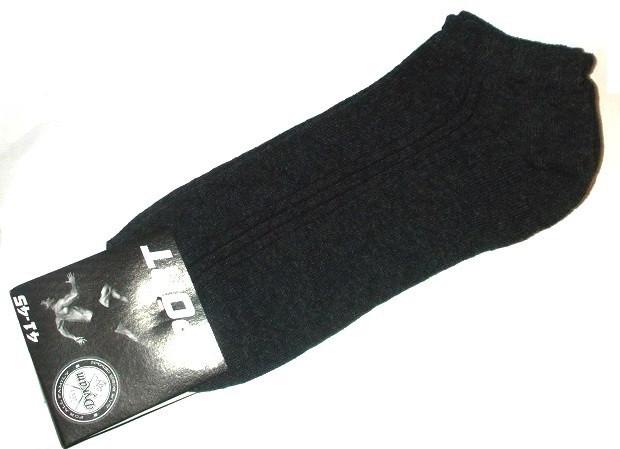 Носки спортивные короткие размер 41-45 серый меланж