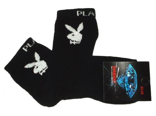 Носки Плейбой  хлопок размер 23-25 (35-40) черные