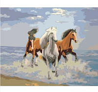 "Картина Холст по номерам 40*50 см ""Свежий ветер"" рама+краски+кисти"