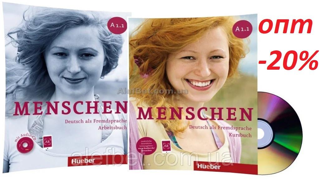 Німецька мова / Menschen / Kursbuch+Arbeitsbuch. Підручник+Зошит (комплект з дисками), A1.1 / Hueber
