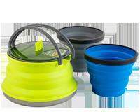 Складная силиконовая посуда