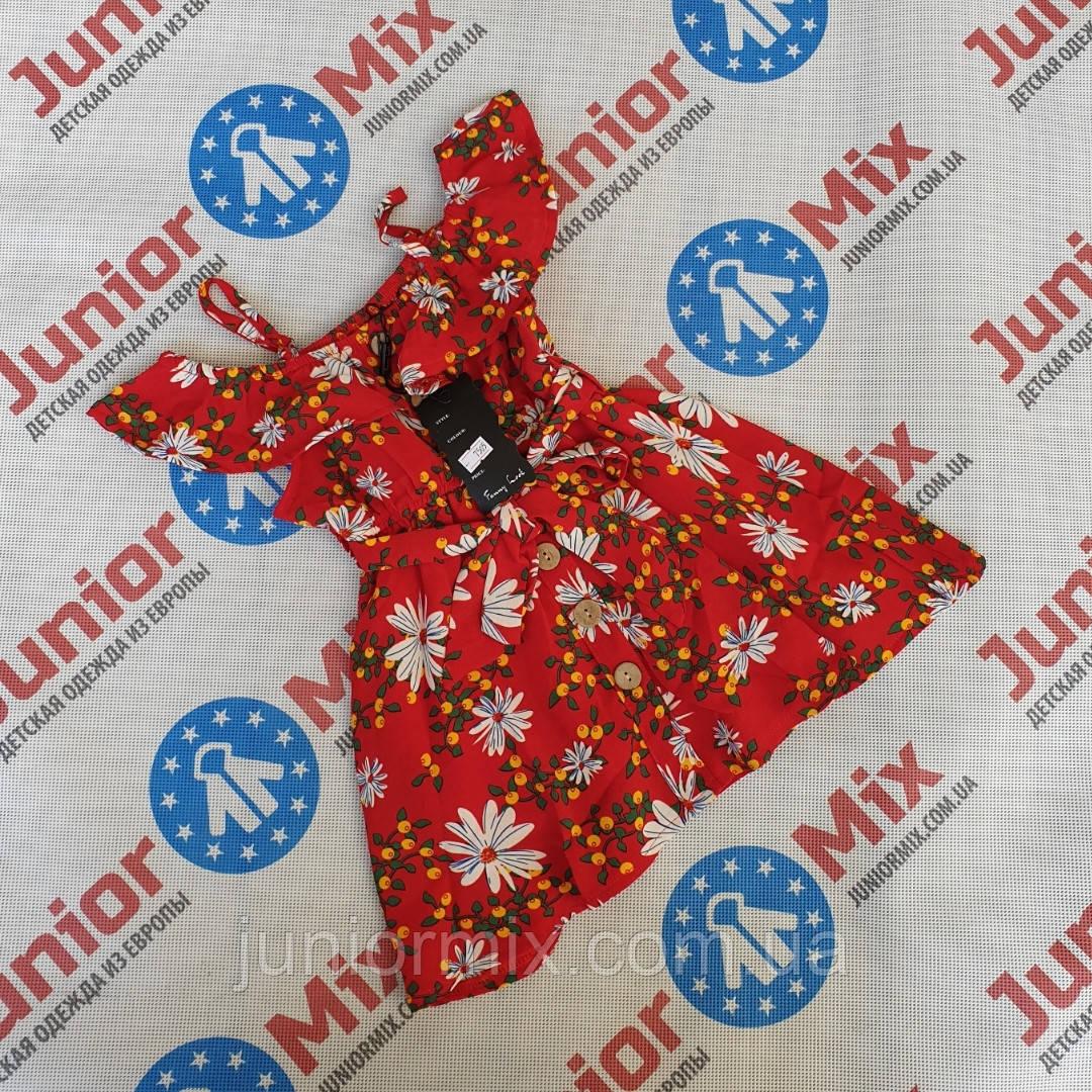 Дитячий сарафан під пояс у квіточки для дівчаток оптом