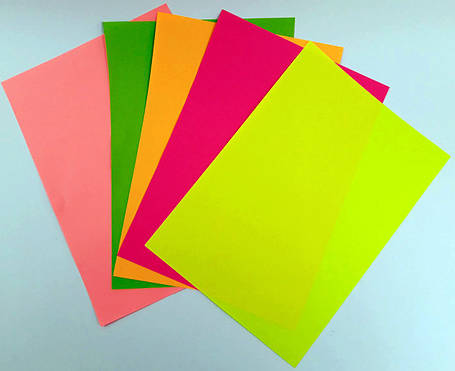 """Бумага офисная цветная (неоновая) A4 """"Колорит-Тон"""" 100 листов, 5 цветов, фото 2"""