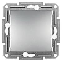Кнопка выключателя однокнопочного Schneider Electric Asfora 10A Алюминий (EPH0700161)