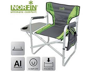 Крісло алюмінієво складне Norfin Verdal NF з відкидним столиком боковим кишенею для риболовлі та відпочинку, фото 2