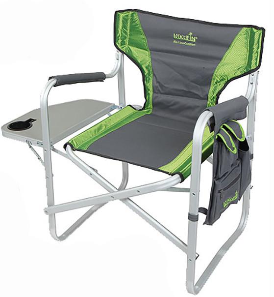 Крісло алюмінієво складне Norfin Verdal NF з відкидним столиком боковим кишенею для риболовлі та відпочинку