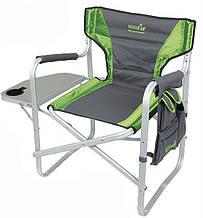 Кресло алюминиево складное Norfin Verdal NF с откидным столиком боковым карманом для рыбалки и отдыху NF-20203