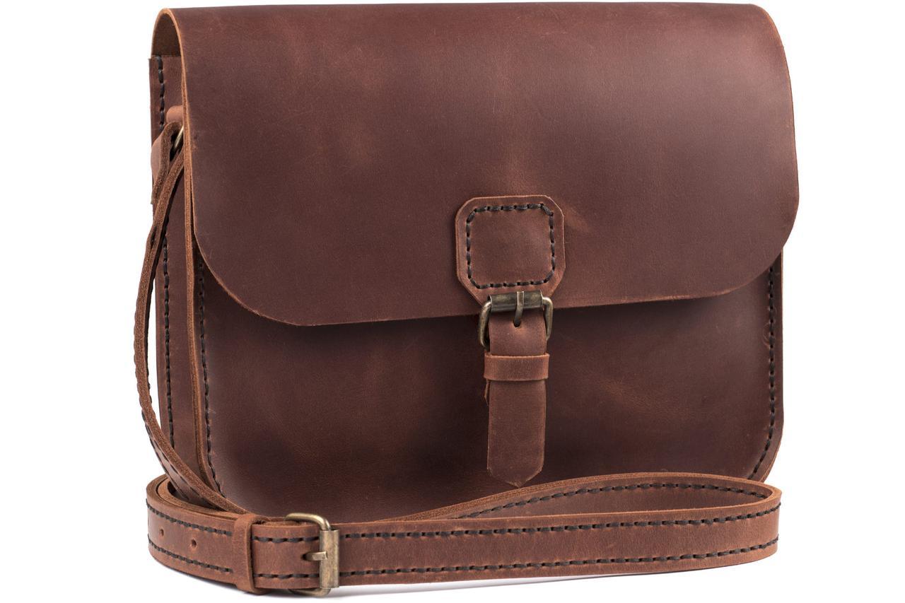 Женская кожаная сумка Handy коньяк