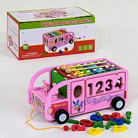 Деревянный Автобус - сортер с ксилофоном С 39219