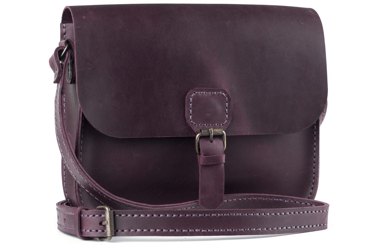 Женская кожаная сумка Handy марсала