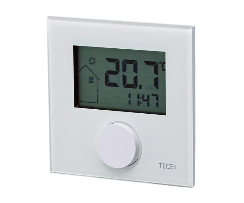 Кімнатний терморегулятор RT-D 230 Control, LCD дісплей, скло біле, обігрів/охолодження 77410041