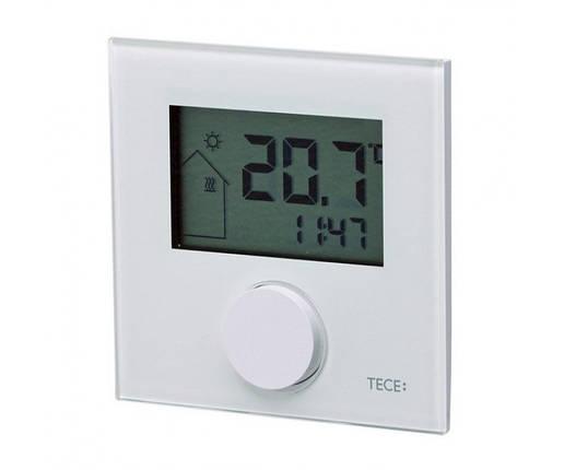 Кімнатний терморегулятор RT-D 230 Control, LCD дісплей, скло біле, обігрів/охолодження 77410041, фото 2