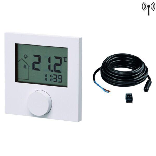 Кімнатний терморегулятор RTF-D, LCD дісплей, безпровідний (2xAAA), з датчиком 77420033