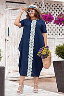 Женское платье в пол летнее большого размера лен