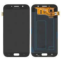 Дисплей для Samsung Galaxy A7 (2017) A720, модуль (экран и сенсор), черный, оригинал #GH97-19723A