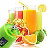 Блендер Smart Juice Cup Fruits USB 4 ножа - Фитнес-блендер портативный для смузи и коктейлей Зеленый (s245), фото 3