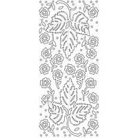 Наклейки Декоративные листья, золото (197300)