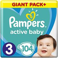 Подгузники Pampers Active Baby 3 (6-10 кг), 104 шт, фото 1