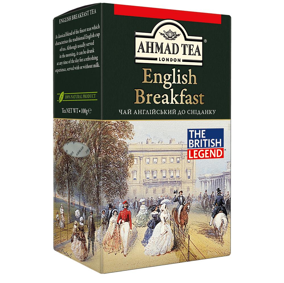 Чай Ахмад Ти Английский к завтраку чёрный листовой 100 грамм