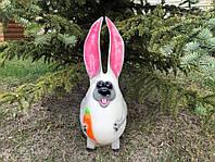 Ландшафтная фигура Заяц с большими ушами h 55 см, фото 1