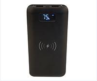 ПоверБанк Беспроводной 16000 mAh Мощный Wireless 908 (с дисплеем)