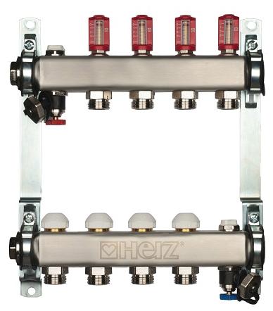 Коллектор с расходомерами Herz 3l/min-TS, 10 отводов 1863210